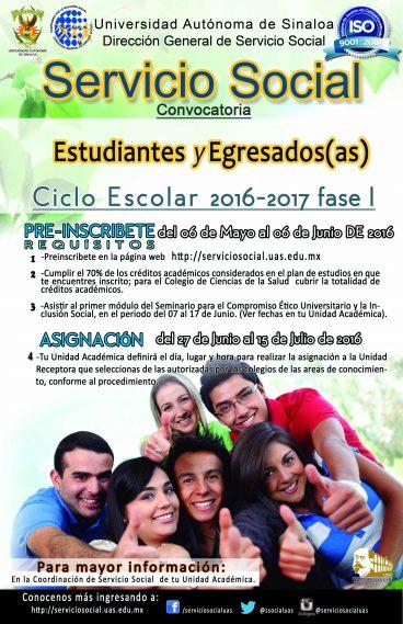 Convoatoria Servicio Social 2016-2017 Periodo I ESTUDIANTES (1) (1)